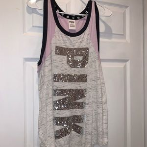 VS PINK sparkly tank top
